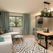 Gartenapartment Apartment Wohnbereich